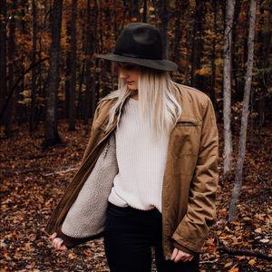 ☾ vintage sherpa lined winter jacket ☾